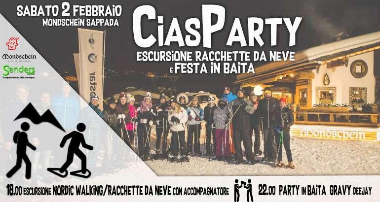 CiasParty – Escursione con le Racchette da Neve e Festa in Baita